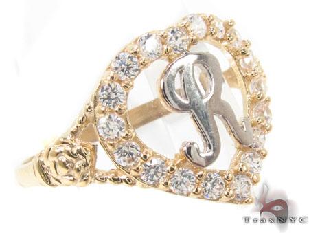 CZ 10k Gold R Ring 33506 Anniversary/Fashion