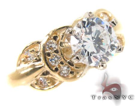 CZ 10k Gold Ring 33354 Anniversary/Fashion