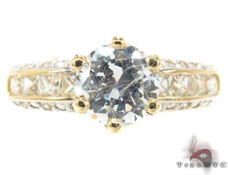 CZ 10k Gold Ring 33355 Anniversary/Fashion