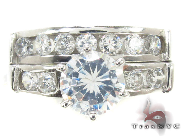 CZ 10k Gold Ring 33419 Engagement