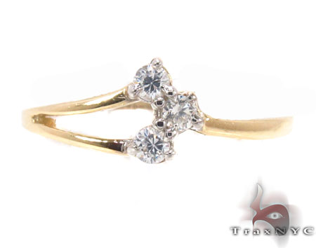 CZ 10k Gold Ring 33532 Anniversary/Fashion