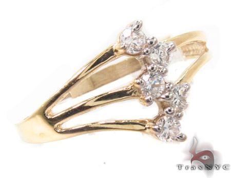 CZ 10k Gold Ring 33538 Anniversary/Fashion