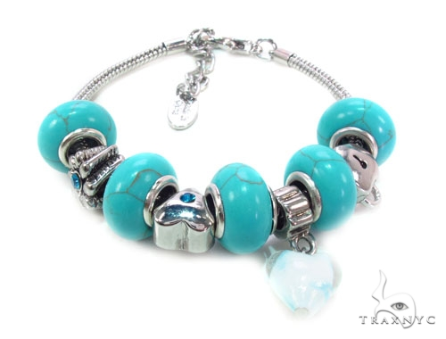 CZ Brass Bracelet Silver & Stainless Steel