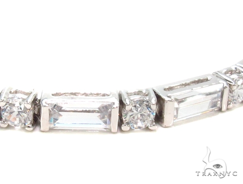 CZ Silver Bracelet 35944 Silver & Stainless Steel
