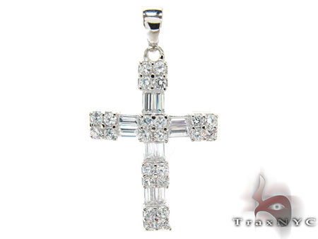 CZ Silver Cross Sterling Silver Cross Charms