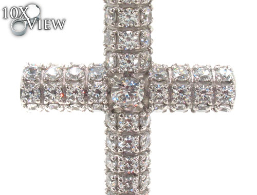 CZ Silver Cross Crucifix 35530 Silver