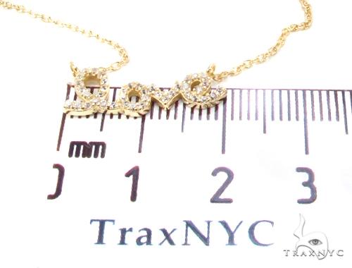 CZ Silver Love Necklace 35960 Silver