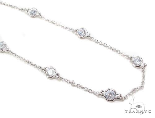 CZ Silver Necklace 35933 Silver