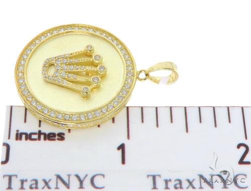CZ Silver Rolex Pendant 57266 Metal