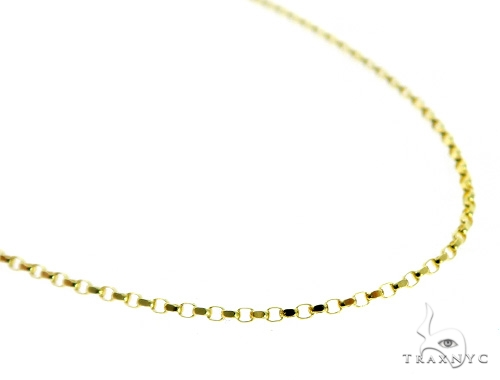 Cable 10k Yellow Gold Chain 18 Inches 1mm 2.5 Grams 49838 Gold