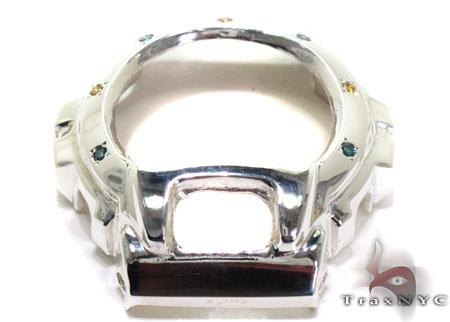 Casio G-Shock White Silver Blue Yellow Diamond Case G-Shock