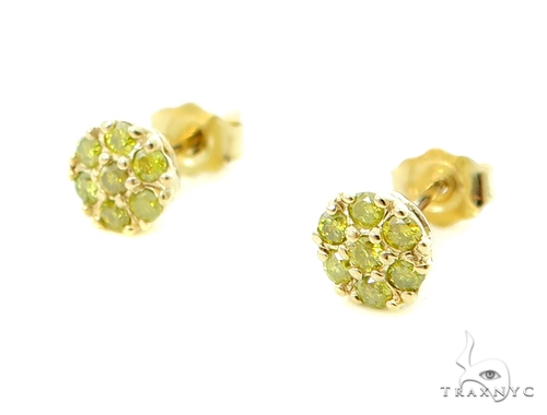 Canary Flower Earrings Stone