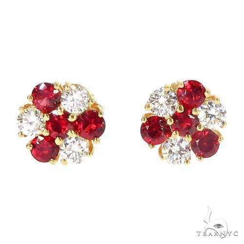 Candy Cane Sapphire Diamond Earrings 66968 Multicolor SAPPHIRE