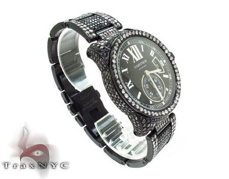 Cartier Full Diamond Calibre Watch Black Diamond Watches
