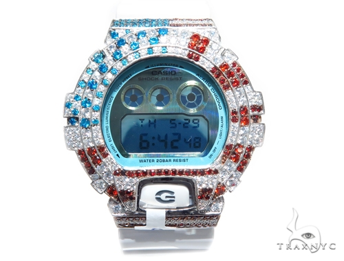 Silver Case Casio G-Shock Watch DW6900PL-7 43173 G-Shock
