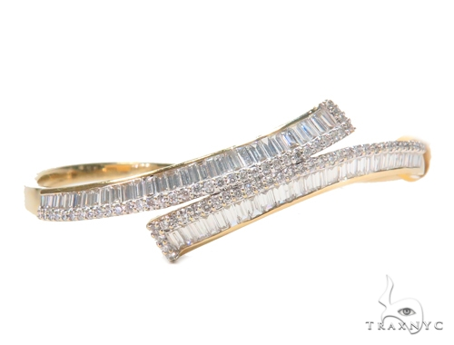 Channel Diamond Bangle Bracelet 43129 Bangle