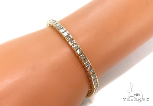 Channel Diamond Bracelet 35046 Tennis