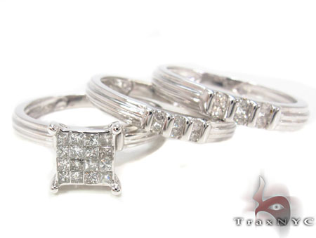 Channel Diamond Couple Rings 32916 Engagement