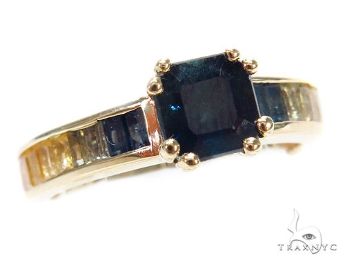 Channel Sapphire Gemstone Ring 43117 Anniversary/Fashion