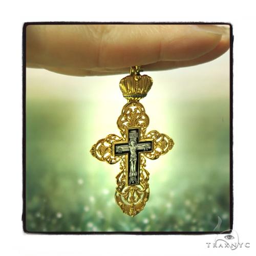 Reversible Classic Empire Silver Cross Crucifix 45257 Silver