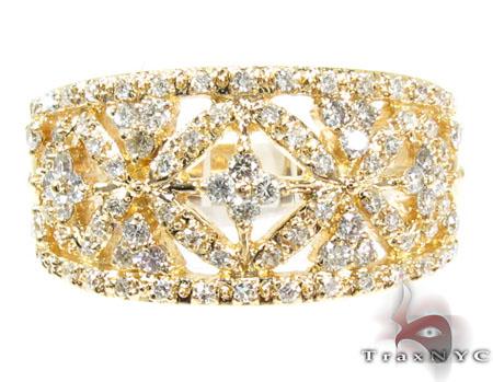 Classy Flower Garden Diamond Ring Anniversary/Fashion
