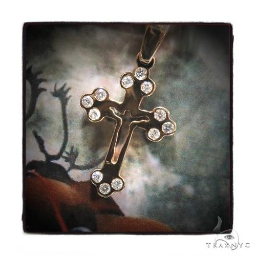 Bezel Diamond Cross Crucifix 44312 Diamond