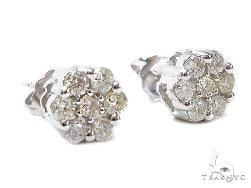Cluster Diamond Earrings 40931 Stone