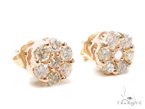 Cluster Diamond Earrings 40933 Stone