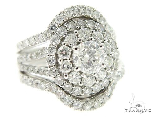 Cluster Halo Diamond Engagement Ring 45607 Engagement