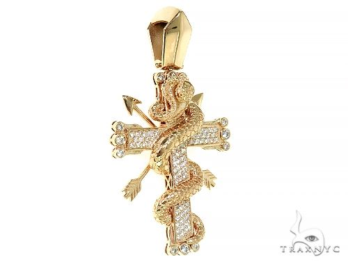 Cobra Cross Diamond Pendant 66340 Metal