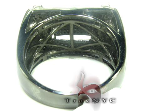 Concrete Black Diamond Ring Metal