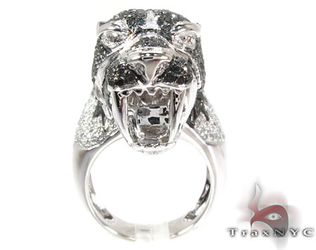 Cougar Black and White Diamond Ring Stone