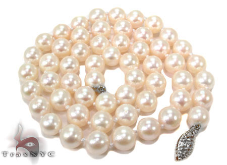 Cream 1 Strand Pearl Necklace 31454 Pearl