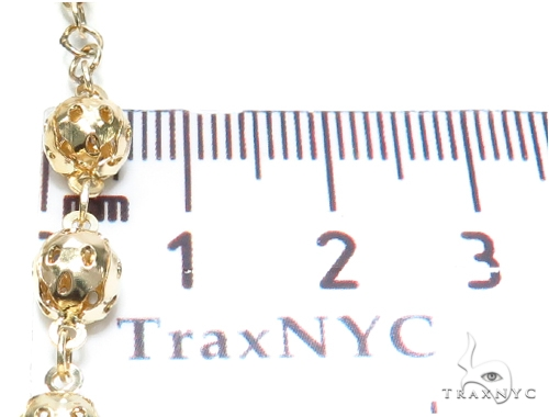 Cross Gold Rosary Chain 30 Inches 6mm 25.8 Grams 42459 Gold