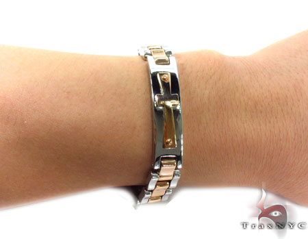 Cross Crucifix Stainless Steel Bracelet 31385 Stainless Steel