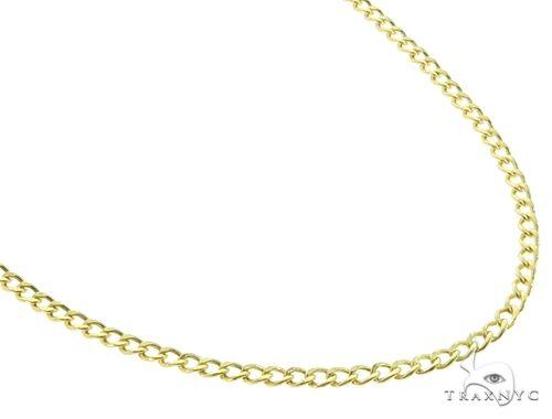 Cuban Curb 10K YG Chain 22 Inches 2mm 3.00 Grams 64047 Gold