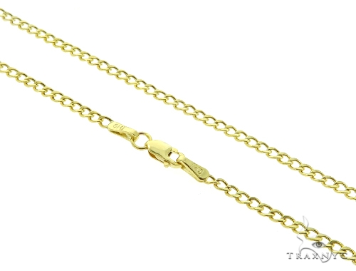 Cuban Curb 10K YG Chain 20 Inches 2mm 2.80 Grams 56875 Gold