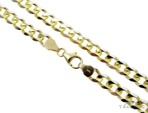 Cuban/Curb 14k Yellow Gold Chain 24 Inches 5mm 22.6 Grams 49544 Gold