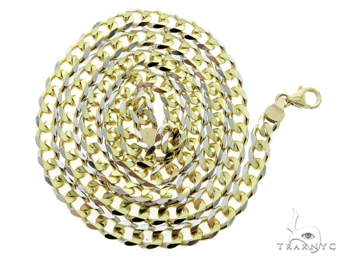 Cuban/Curb 14k Yellow Gold Chain 24 Inches 5mm 32.66 Grams 49536 Gold