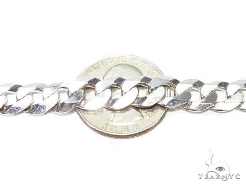 Curb Link Silver Chain 26 Inches 9mm 46.6 Grams 40552 Silver