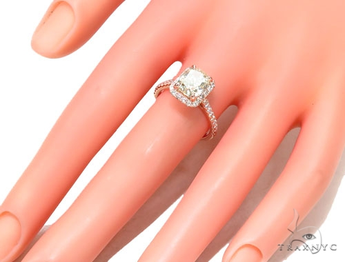Cushion Cut Halo Diamond Engagement Ring 42900 Engagement