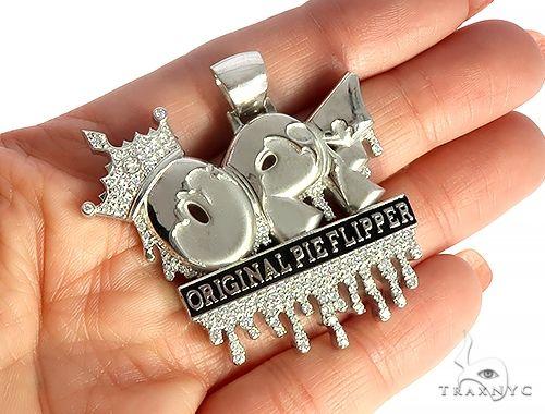 Cusom Made OPF Original Pie Flipper Diamond Pendant 65798 Metal