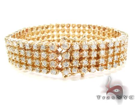 Custom 4 Row Diamond Bracelet 26108 Diamond