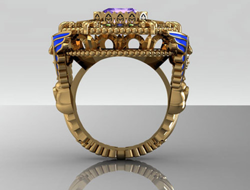 Custom Angel Ring 29325 Metal