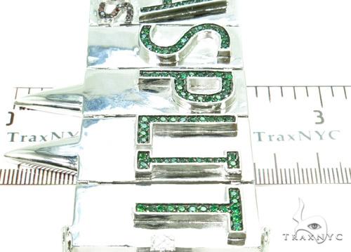 Custom Bandanasplit Bracelet 37267 Silver