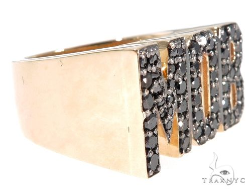 Custom Black Diamond 'MOB' Ring 64072 Stone
