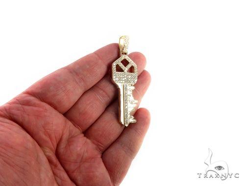 Custom Boston Skyline Key Diamond Pendant 64202 Style