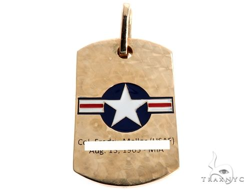Custom Diamond Dog Tag Metal
