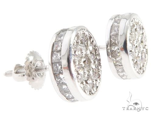 Custom Diamond Earrings 64031 Stone