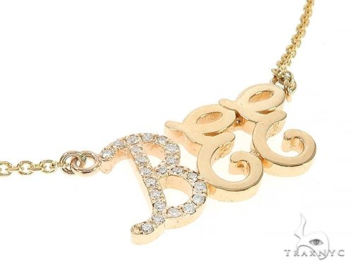 Custom Diamond Name Pendant Bee Yellow Gold Small 65237 Style